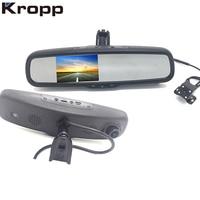 Full HD 1080P Car DVR Detector Rear View Camera Bracket Review Mirror Auto Dvrs Dual Lens