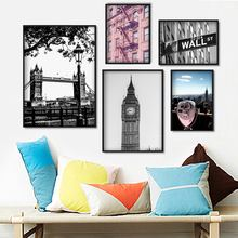 London Tower Bridge Big Ben City Landscape Wall Art Canvas Painting Nordic Posters And Prints Pictures For Living Room