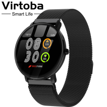 "Makibes F3 1.3"" Full Touch Tempered Glass Screen Smart Watch Men Women IP68 HR Blood oxygen Pressure Fitness Tracker PK V11 купить дешево онлайн"