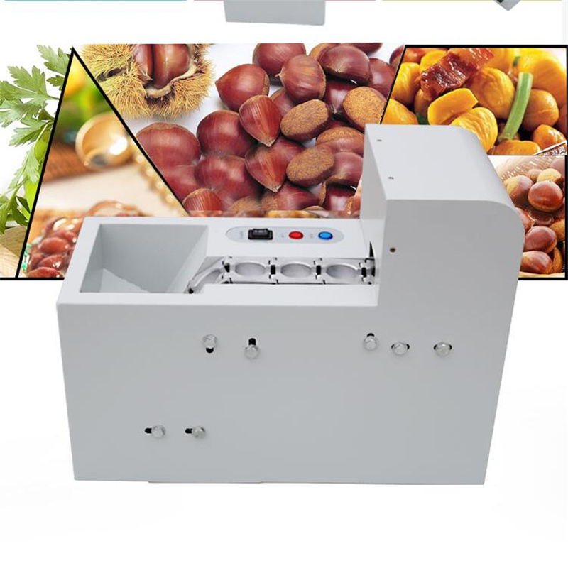 220V Commercial Electric Large Capacity Chestnut Opening Machine Chestnut Cutting Machine Chestnut Cutter EU/AU/UK/US Plug the chestnut king