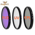 KnightX 52mm 58 67 77mm MM UV CPL FLD infrared Filter Kit Circular polarizing Filter for Nikon Canon D3300 D5200 D6 DSLR Camera