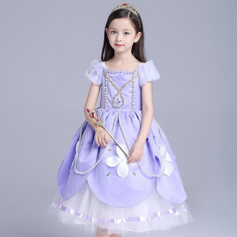 ABGMEDR marque haut de gamme robes de princesse filles robe de soirée pour Sofia Costume enfants vêtements de noël enfants robe de mariée