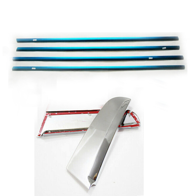 Garniture de garniture pour Kia Sportage R 2011-2014   Seuil de fenêtre extérieur en acier inoxydable + fenêtre arrière C pilier de moulage, garniture pour Kia Sportage R