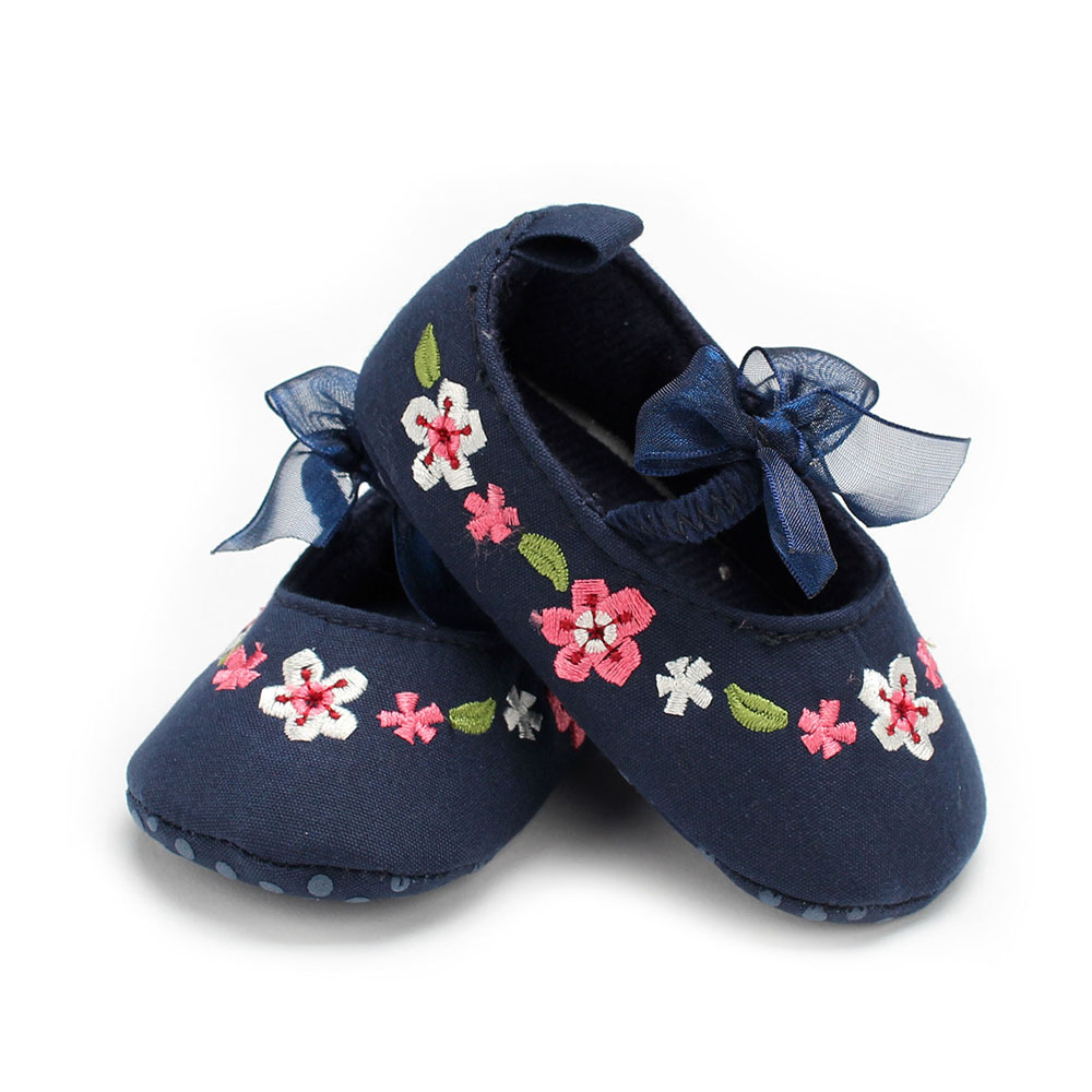 New baby non-slip toddler shoes soft bottom bow Chinese girls baby toddler shoes 0-12 months GXJ
