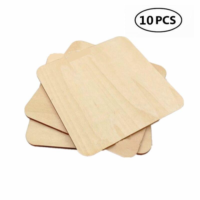 Star Form Holz Verzierungen f/ür das Handwerk 80 mm 10St/ück