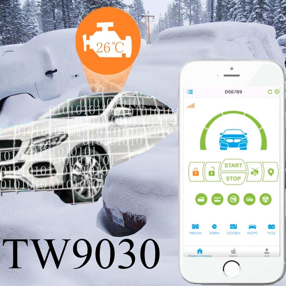 TW9030 GSM Alarm Tomahawk TW9030 Two way car alarm Mobile phone control car GPS upgrade gsm