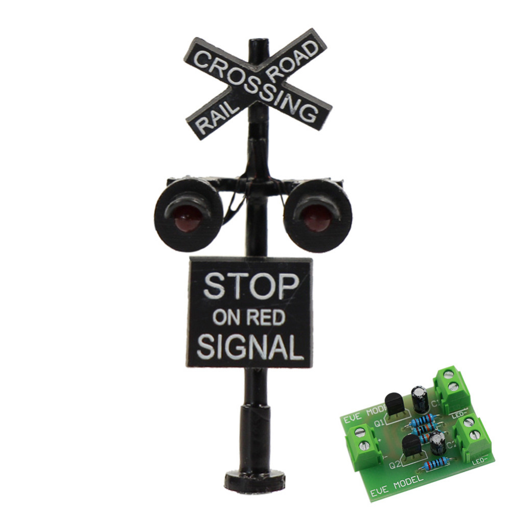 Red Green Yellow Light Railroad Signals For Railway Signal Traffic Circuit Jtd1507rp 1 Set 6 Sets N Scale 3cm Crossing 1150