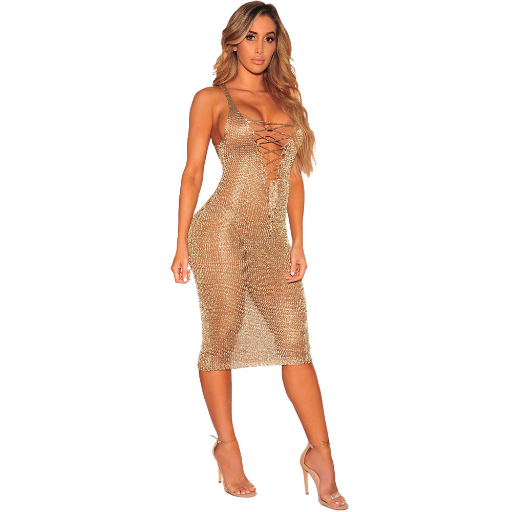 Online Shop HOT SALE Fashion Women Summer Dress 2018 Womens Sexy Bodycon  Camouflage Gauze See-through Sheer Dress Party Sexy Dress B40  d1fe05a05321