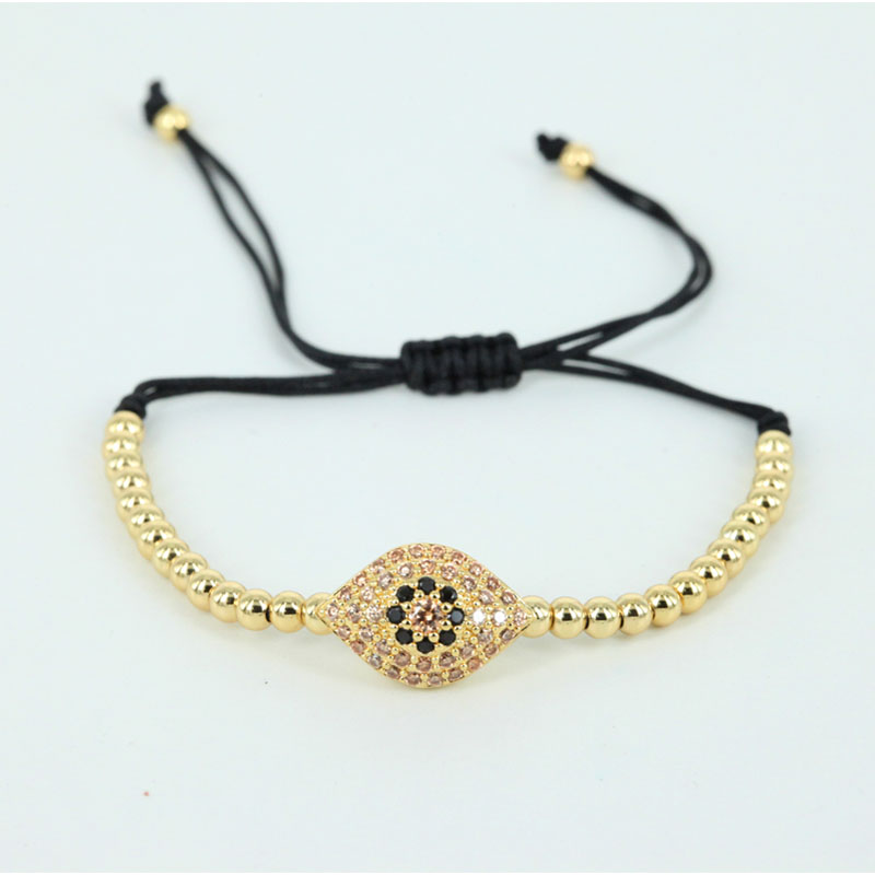 Branded Charm CZ Zirconia Pave Setting Evil Eye Charm Bracelet Jewelry Men Bracelets Jewelry Pulsera Gift Watch Accessories