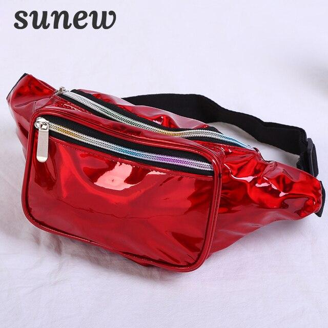 Luxury Holographic Fanny Pack For Women Waist Bags Bumbag Waistbag Fannypack Borsa Marsupio Donna Waist Pouch Belt Bum Bag K032