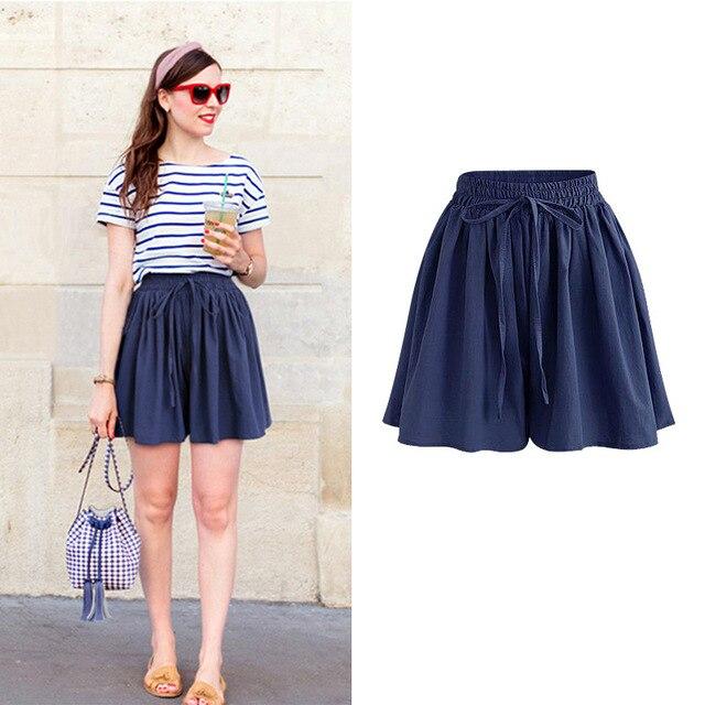 Summer Women Shorts High Waist Loose Chiffon Shorts Female Slacks Large Size Shorts 8001 3
