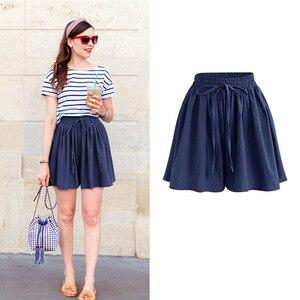 Image 3 - Summer Women Shorts High Waist Loose Chiffon Shorts Plus Size 6XL Female Slacks Large Size Shorts 8001