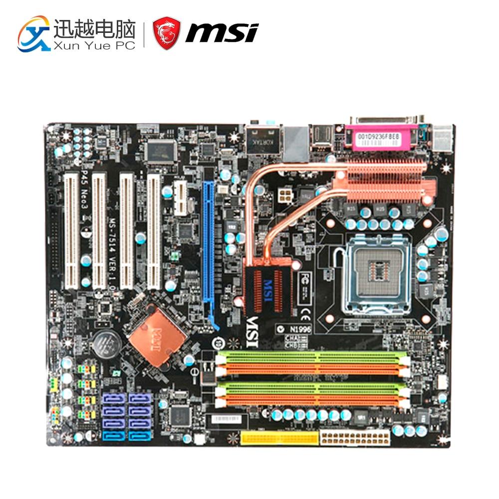 MSI P45 NEO3-FR Desktop Motherboard P45 Socket LGA 775 DDR2 16G SATA2 USB2.0 ATX neo3 mebelvia