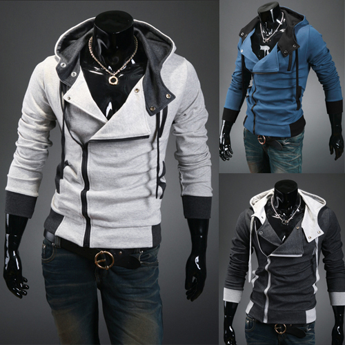 3a1bc13dd79 Men s Zipper Active Coat Long Full Sleeves Jacket Warm Outerwear Winter Autumn  Sweatshirts Hoodie
