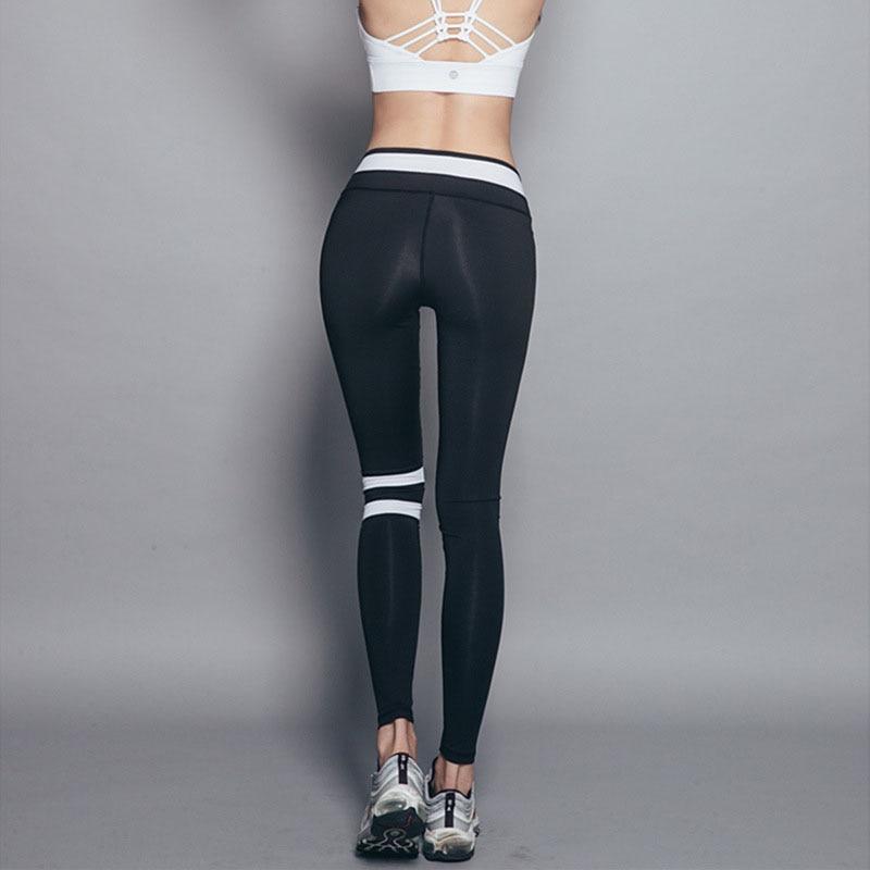 Slim Fitness Las Negro Elástico Pantalones Deporte Yzlirenfs Mujeres De Corte FqYpT8U1w