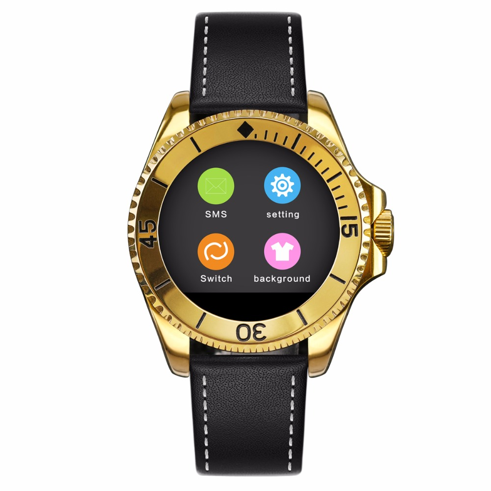 BINLUN Smart Watch Bluetooth Touch Screen Leather Straps Watch for iPhone Android font b Smartphone b