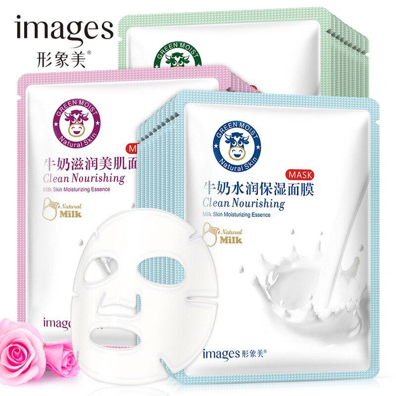 1pcs milk moisturising face sheet mask skin mask skin care products women beauty and health masks collagen face mask silk