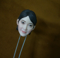 1/6 Stewardess Air Hostess Flight Attendant Head Sculpt