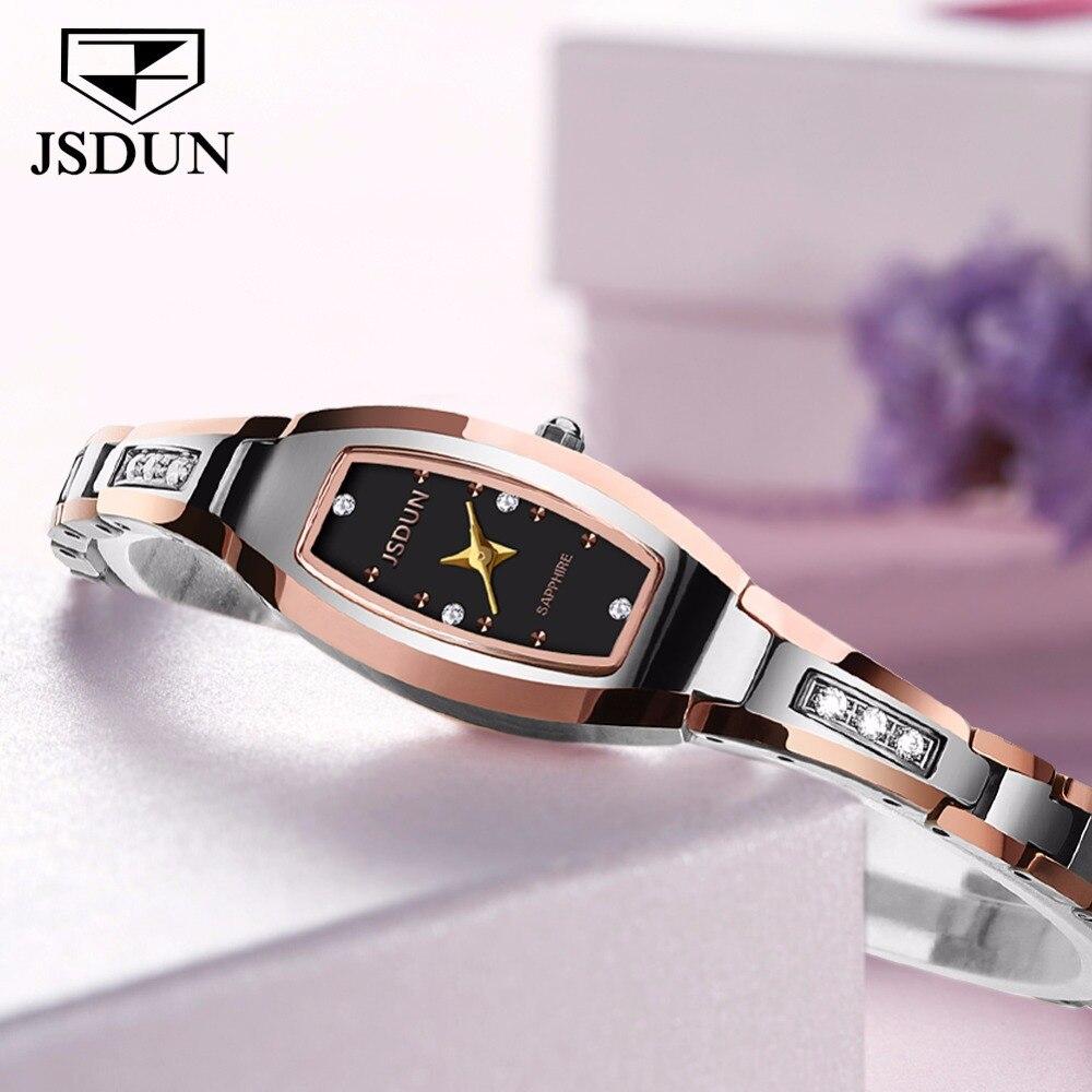 OLEVS montre en acier tungstène or Rose femmes montres à Quartz haut pour femme marque de luxe femme montre-bracelet fille horloge Relogio feminino