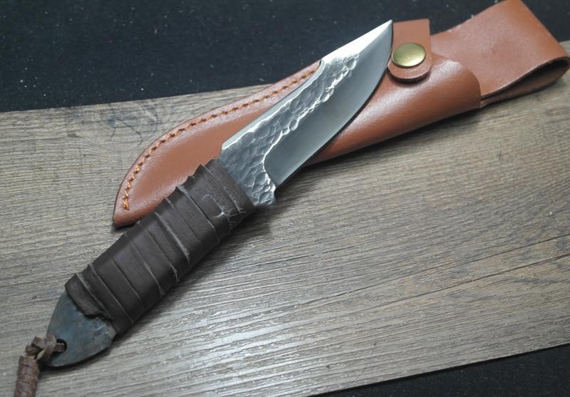 Nuovo coltello da caccia forgiato manuale sopravvivenza esterna - Utensili manuali - Fotografia 4