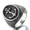 Joyería de los hombres de moda de acero inoxidable anillo de acero titanium de anclaje