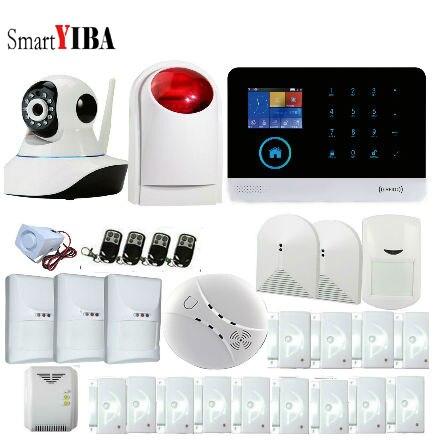 SmartYIBA Netherland/French/Russian/Spanish/English WiFi GSM GPRS Wireless Intruder Burglar Alarm System+Wireless Siren