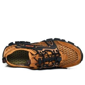 Image 5 - גברים נעלי הליכה עמיד למים נעלי גברים הרי טיפוס טרקים נעליים