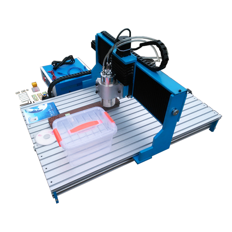Linear Guide Rail 4axis metal cnc router 6090 1500W spindle 3axis wood engraving drilling machine cnc router wood milling machine cnc 3040z vfd800w 3axis usb for wood working with ball screw