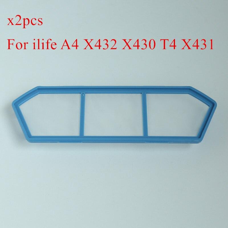 2 шт. исходное основной пыли hepa фильтр для ILIFE A4 X432 X430 T4 X431 робот пылесос ILIFE A4S пылесос Запчасти фильтр