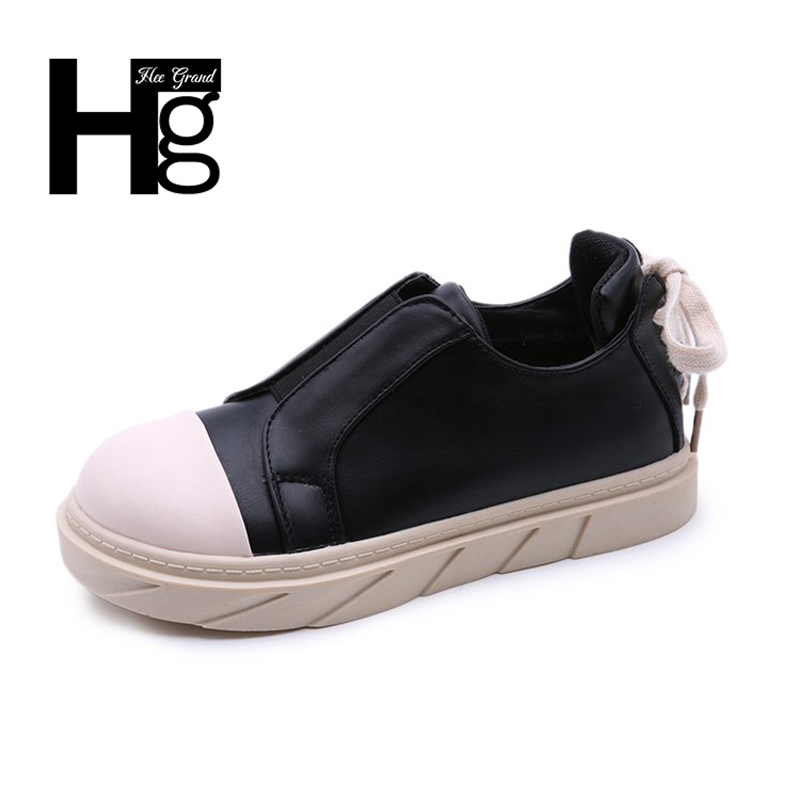 HEE GRAND Spring Autumn Women Black Shoes White Zip High Platform Women Shoes for Women Girl Student Casual Shoes XWC1240 hee grand fashion height increasing women shoes zip white black women casual pumps wedges shoes drop shipping xwc471