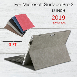 Image 1 - Flip Case for Microsoft Surface Pro 3 Multi Angle Stand Cover Waterproof Soft Shell Compatible with Keyboard for Surface Pro3
