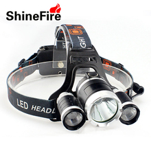 Фотография Shinefire high quality headlamp with 18650 Rechargable Battery Powerful Three Modes Headlight for Outdoor Camping TD16