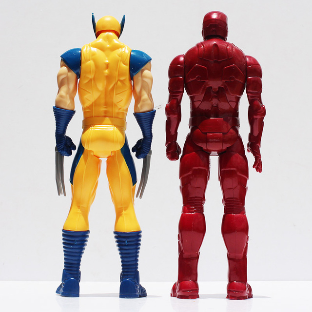 Super Hero X men Iron Man PVC Action Figure Collectible Toy 12 30CM Retail Free Shipping