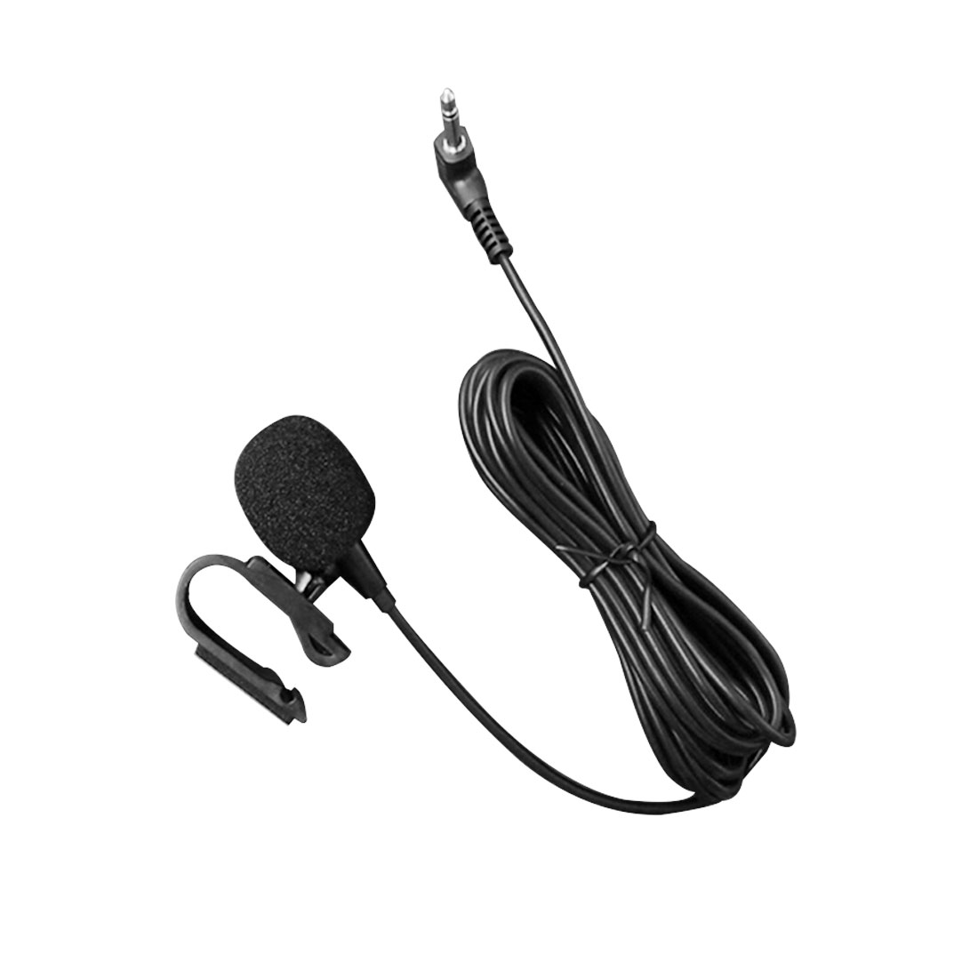 Marsnaska Hot 3.5mm External Microphone Mic For Car DVD Radio Laptop Stereo Player HeadUnit Cable 3m With U Shape Fixing Clip