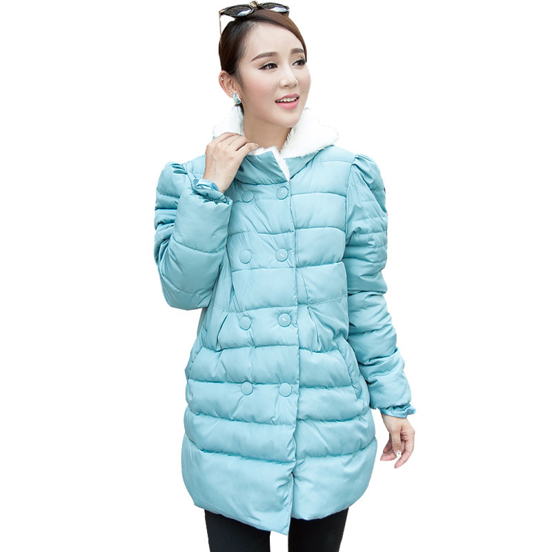 Maternity clothing autumn and winter new style cotton jacket fashion casual warm pregnant women coat women winter coat leisure big yards hooded fur collar jacket thick warm cotton parkas new style female students overcoat ok238
