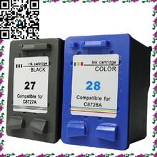 Принтер Картридж Модель для HP27 28 C8727A/C8728A kartrid тинта Untuk kompatibel для DESKJET 3420/3520/3520/3520 В/3535/3550 В