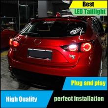 цена на For Mazda 3 M3 Axela Hatchback 2013-2016 LED Tail Light Assembly DRL+Dynamic Turn Signal+Brake+Reverse taillight Rear Lamp Light