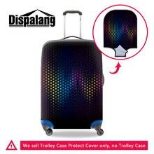 Dispalang nouveau 3D réaliste lumière dot voyage lugage valise housse de protection étanche élastique chariot cas sac couvre pour les femmes
