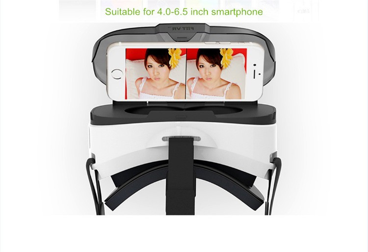 FIIT VR 3D Virtual Reality Video Helmet Cardboard 2.0 VR Glasses Box for 4.0-6.5 inch Smartphone Lightweight Ergonomic Design (12)