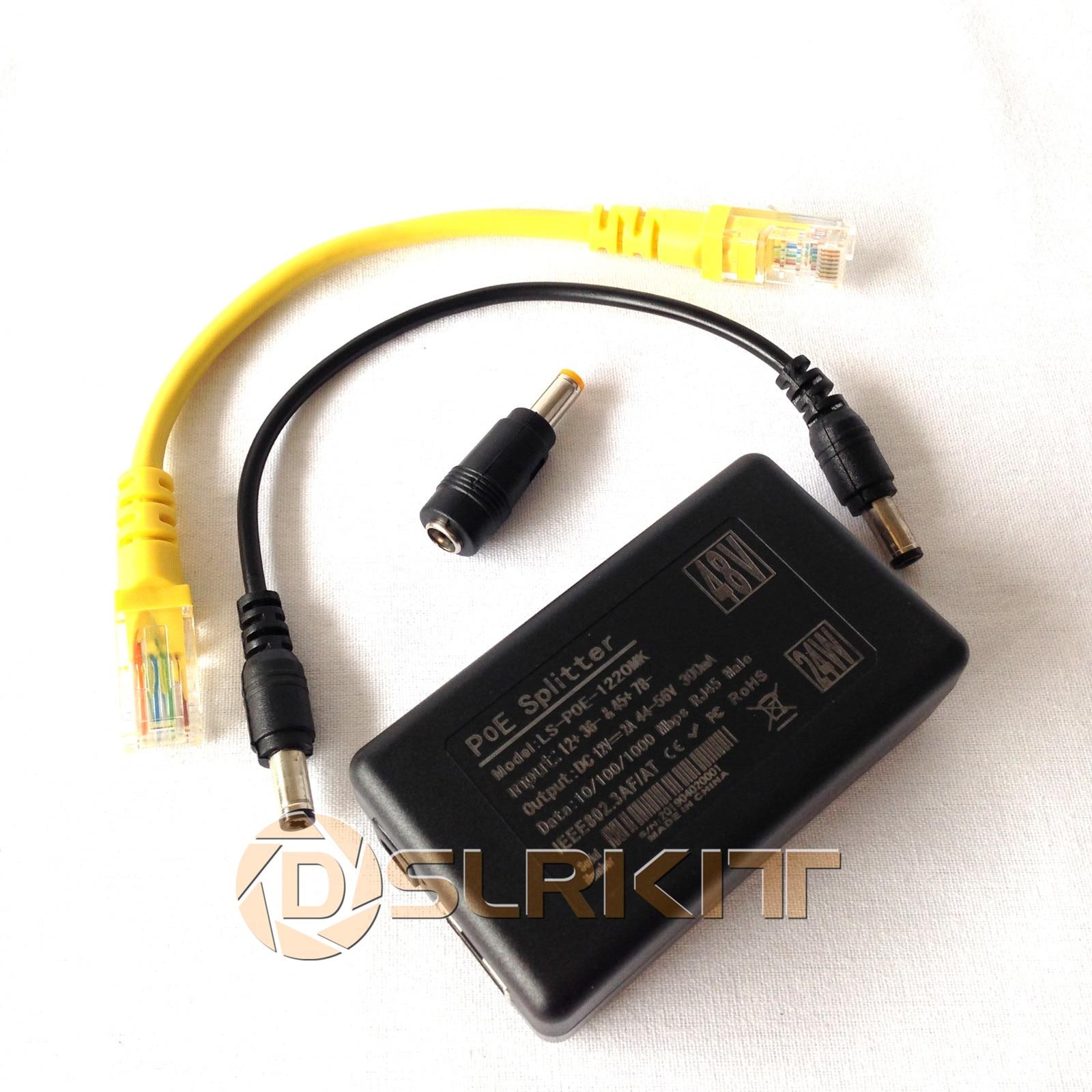 Gigabit Active PoE Splitter Power Over Ethernet 48V to 12V 1A-2A 10//100//1000Mbps