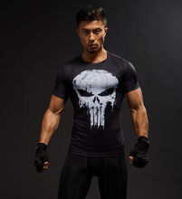Kurzarm 3D T Shirt Männer T-Shirt Männliche T Captain America Superman t-shirt Männer Fitness Kompression Shirt Punisher MMA(China)