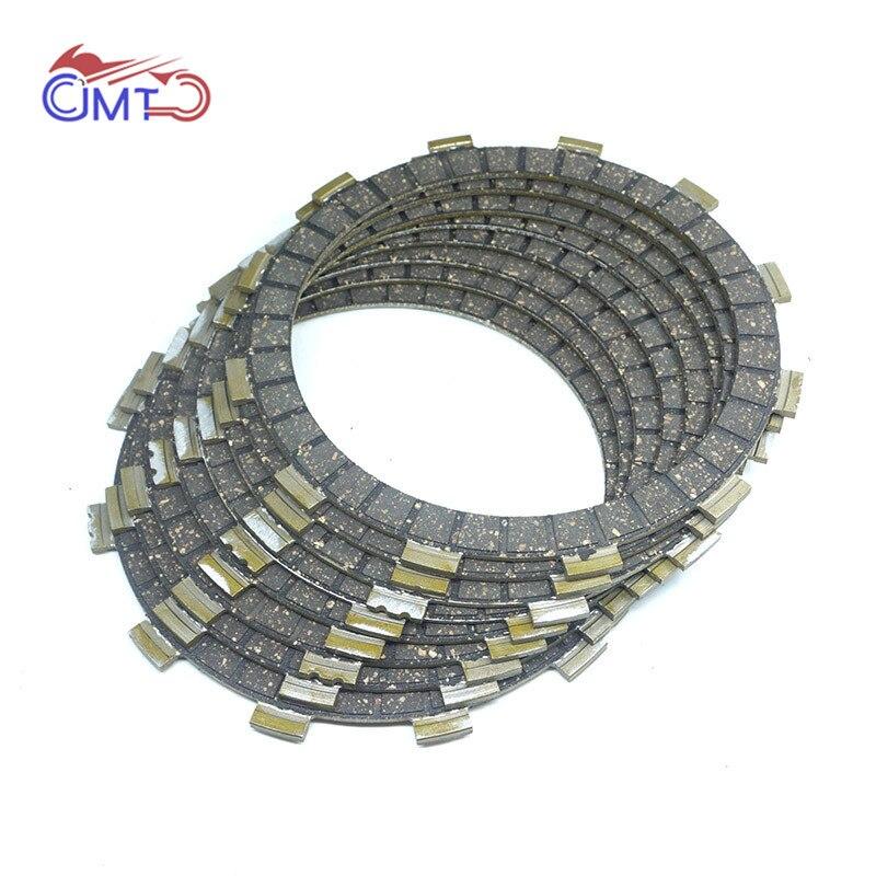 For Yamaha Virago XV920 81-83 XV1000 XV1100S 84-99 Drag Star V-Star XVS1100 99-09 Clutch Friction Disc Plate Kit 8 Pieces