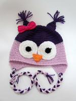 Baby colorful owl, lovely hat