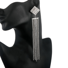 Super Extra long earrings for women fashion crystal chandeli