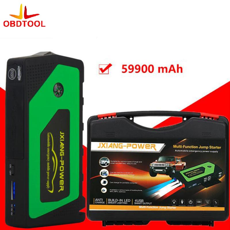 Best Car Jump Starter 59900mAh Portable Power Bank Multi-function Vehicle Start Jumper Emergency Auto Battery Booster 3 Color newest 50800mah 12v car emergency start power bank vehicle jump starter booster portable current battery charger three light hot