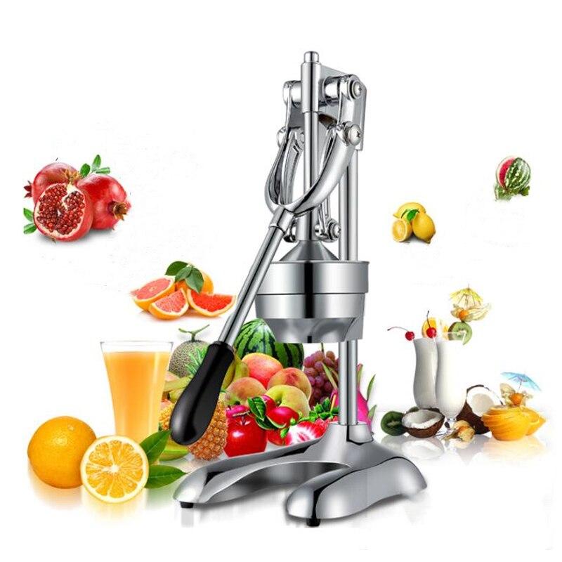 Ev Aletleri'ten Mutfak Robotları'de Ev kullanımı Manuel Sıkacağı/Portakal Nar meyve suyu pres makinesi/paslanmaz çelik pres/Meyve Sıkacağı/Suyu Suyu Basın