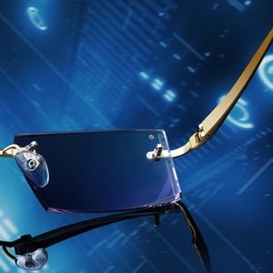 Gmei оптический 983 фантомная Обрезка титановые очки без оправы Алмазная резка без диоптрий оптические очки для мужчин и женщин