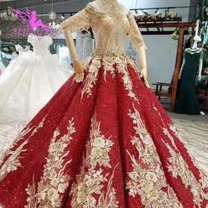 Image 3 - AIJINGYU חתונה שמלות לבנון שמלות סקסי פשוט סביר ליד לי זול בטורקיה חנות צבעים חתונה שמלה קצרה בתוספת גודל