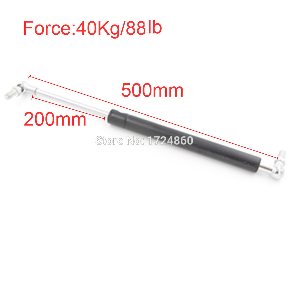 free shipping High Quality 40KG/88lbs Force 200mm Long Stroke M8 Ball End Lift Support Auto Gas Spring 500mm Central Distance free shipping500mm central distance 200mm stroke 80 to 1000n force pneumatic auto gas spring lift prop gas spring damper