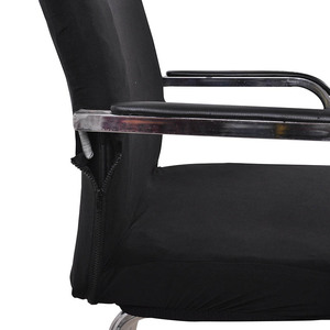 Image 5 - S/M/L Sizes Office Chair Cover Spandex Elastic Stretch Black Lift Computer Arm Chair Seat Cover Cushion 1PC